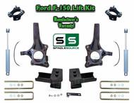 """2009 - 2014 Ford F-150 6.5"""" / 3"""" Lift Spindle Knuckle Blocks U-bolt Kit + SHOCKS"""
