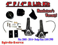 2009 - 2016 Dodge Ram 1500 4 INCH LIFT KIT (2wd ONLY) HEMI / Non-Hemi V6 + V8