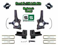 "2009 - 2014 Ford F-150 6"" / 3"" Lift Spindle Knuckle Blocks U-bolt Brakeline Kit"
