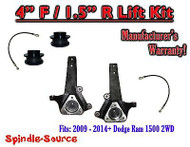 "2009 - 2016 Dodge Ram 1500 4"" INCH / 1.5"" LIFT KIT (2wd ONLY) HEMI / Non-Hemi"