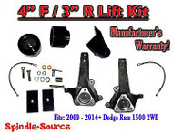 "2009 - 2016 Dodge Ram 1500 4"" / 3"" LIFT KIT (2wd ONLY) HEMI / Non-Hemi V6 + V8"