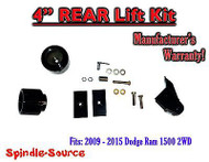 "2009 - 2016 Dodge Ram 1500 4"" REAR Spacer LIFT KIT (2wd ONLY) w/ Panhard Bracket"