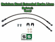 2009 - 2017 Ford F-150 F150 Stainless Extended Length FRONT Brake Lines for LIFT