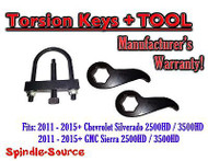 "2011-15 Chevy Silverado GMC Sierra 2500HD 3500HD 1""-3"" Torsion LIFT KEYS + TOOL"
