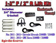 """2011-15 Chevy Silverado Sierra 2500 3500 1 -3""""F / 2""""R Torsion LIFT KIT Ext TOOL"""