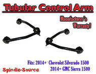 2014 - 15 Chevy Silverado / GMC Sierra1500 TUBULAR UPPER CONTROL ARMS w/ MOOG