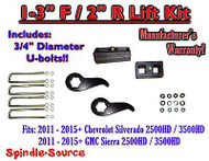 "2011-15 Chevy Silverado Sierra 2500 3500 1 -3""F / 2""R Torsion LIFT Keys KIT Ext"