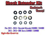 2011-15 Chevy Silverado Sierra 2500 3500 SHOCK EXTENDER Kit for Torsion Key Lift
