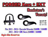 "2011-15 Chevy Silverado Sierra 2500 3500 HD 1 -3"" Torsion LIFT KEYS EXT + TOOL"