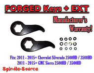 "2011-15 Chevy Silverado GMC Sierra 2500 3500 HD 1 -3"" Torsion LIFT KEYS + EXT"