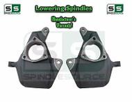 "2014 - 2017+ Chevrolet Silverado 2WD 4WD 2"" Drop Lowering Spindles STAMPED /ALUM"