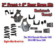 "2014-16 Chevrolet Chevy Silverado / GMC Sierra 1500 V6 3"" / 6"" Lowering Drop kit"