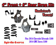 "2014-16 Chevy Chevrolet Silverado / GMC Sierra 1500 V6 4"" / 6"" Lowering Drop kit"