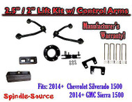 "2014+ Chevy Silverado GMC Sierra 1500 2.5"" / 2"" CONTROL ARM LIFT KIT + SHOCKS"