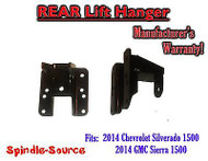 "2014+ Chevy Silverado GMC Sierra 1500 1"" - 2"" Rear Lift Hanger for Flip Kits"