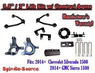 "2014+ Chevy Silverado GMC Sierra 1500 5.5"" / 2"" Spindle Lift KIT Control Arms"