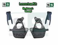 """16-18 Silverado Sierra 2"""" / 2"""" Drop Lowering Spindle KIT STAMPED / ALUM ARMS 2/2"""
