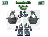 "16-18 Chevy Silverado Sierra 4"" / 7"" Drop Lowering KIT STAMPED / ALUM ARMS 4/7"