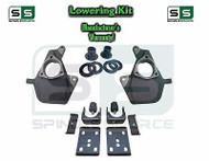 """16-18 Chevy Silverado Sierra 4"""" / 7"""" Drop Lowering KIT STAMPED / ALUM ARMS 4/7"""