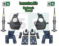 "16-18 Silverado Sierra 3"" / 6"" Drop Lowering KIT STAMPED / ALUM ARMS 3/6 STRUTS"