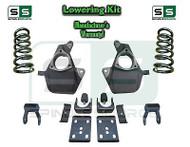 "16-18 Silverado Sierra 4"" / 6"" Lowering DROP KIT STAMPED / ALUM ARMS Coils V8"