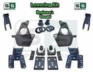 """16-18 Silverado Sierra 4"""" / 4"""" Drop Lowering Spindle KIT STAMPED / ALUM ARMS 4/4"""