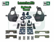 "16-18 Silverado Sierra 4"" / 7"" Drop Lowering KIT STAMPED / ALUM ARMS 4/7 + NOTCH"