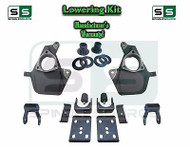 "16-18 Silverado Sierra 3"" / 6"" Drop Lowering KIT Shackles STAMPED / ALUM ARMS"