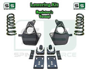 "16-18 Silverado Sierra 4"" / 7"" Lowering DROP KIT STAMPED / ALUM ARMS Coils V6"