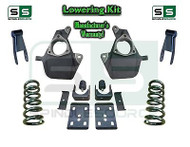 "16-18 Silverado Sierra 5"" / 8"" Lowering DROP KIT STAMPED / ALUM ARMS Coils V8"