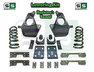 16-18 Silverado Sierra 4/7 Lowering DROP KIT STAMPED / ALUM ARMS V6 Coils, NOTCH