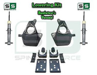"16-18 Silverado Sierra 4"" / 7"" Drop Lowering KIT STAMPED / ALUM ARMS 4/7 STRUTS"