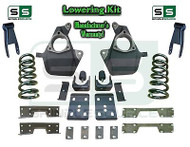 16-18 Silverado Sierra 5/8 Lowering DROP KIT STAMPED / ALUM ARMS V8 Coils, NOTCH