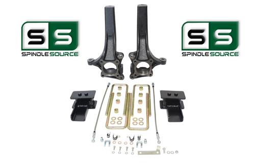 """4.5"""" / 3"""" Lift Spindle  Blocks U-bolt Lift  Kit Fits 2015 - 2018 Ford F-150 2WD"""