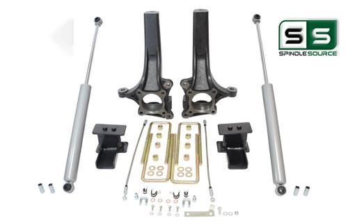 """4.5""""/ 4"""" Lift Spindle Blocks Shocks Lift Kit   Fits 2015-2018  Ford F-150 2WD"""
