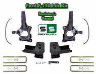 "2015+ Ford F-150 2WD 4.5"" / 5"" Lift Spindle Knuckle Blocks U-bolt Brakeline Kit"