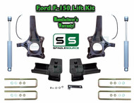 "2015+ Ford F-150 2WD 4.5"" / 5"" Lift Spindle Knuckle Blocks U-bolt Kit + SHOCKS"