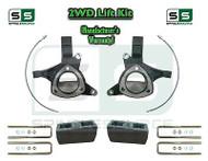 "2015+ Silverado Sierra 1500 2WD 5"" / 4"" Lift Spindles Kit STAMPED / ALUM ARMS"