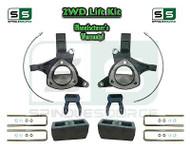 "2015+ Silverado Sierra 1500 2WD 5"" / 5"" Lift Spindle Kit Shackles STAMPED / ALUM"