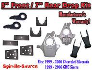 "5"" - 7"" Drop Kit 1999 - 2007 Chevy Chevrolet Silverado GMC Sierra 1500 5F/7R"