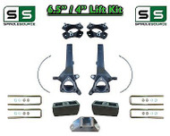 "6.5"" / 4"" Spindle Block LIFT KIT for 2004 - 2015 Nissan Titan 2WD w/CB Spacer"
