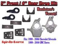 "5"" - 6"" Lower Drop Kit 1999 - 2007 Chevy Chevrolet Silverado GMC Sierra 1500 5/6"
