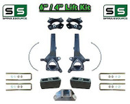 "6"" / 4"" Spindle Block LIFT KIT for 2004 - 2015 Nissan Titan 2WD w/CB Spacer"
