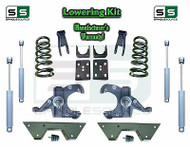 "73 - 87 Chevy GMC C10 C15 5"" / 7"" - 8"" Lowering Drop Kit 1.0"" Rotor SHOCKS NOTCH"