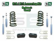 "82-05 Chevy S-10 S10 / GMC S-15 Sonoma Blazer 2"" / 3"" Drop Coil KIT 4 Cyl SHOCKS"