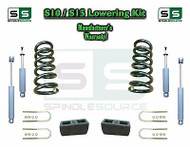 "82-05 Chevy S-10 S10 / GMC S-15 Sonoma Blazer 2"" / 4"" Drop Coil KIT 4 Cyl SHOCKS"
