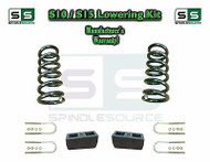 "82-05 Chevy S-10 S10 / GMC S-15 Sonoma Blazer Jimmy 2"" Drop Coils Block KIT V6"