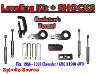 "88 - 98 Chevy GMC 1500 Torsion Level 3"" FORGED KEYS + 2"" Blocks + TOOL + SHOCKS"