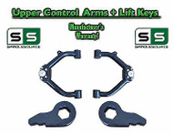 "99 - 06 Chevy Silverado Sierra 1500 TUBULAR UPPER CONTROL ARMS + 3"" LIFT KEYS"