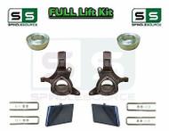 "99 -07 Chevrolet Silverado GMC Sierra 1500 Spindle Lift Kit 7"" / 4"" Offset Block"